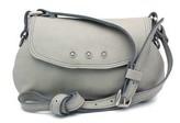"""Vin Baker Natalie"""" Cemento (Grey) Leather Cross-body Bag"""