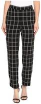 Vince Camuto Windowpane Soft Pull-On Slim Leg Pants Women's Casual Pants