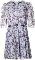 Giamba floral print flared dress - women - Silk/Polyester - 40