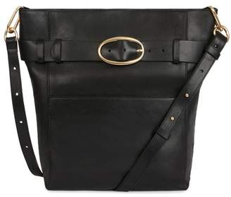 Vanessa Bruno Smooth Calfskin Leather Hobo Iris Bag