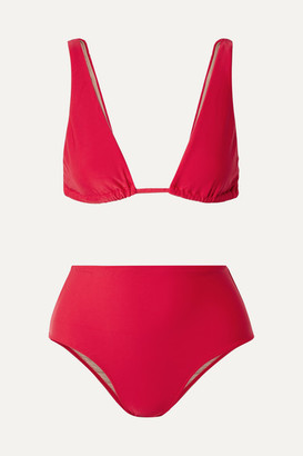 Adriana Degreas Bacio Triangle Bikini - Red