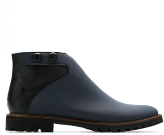 Sarah Chofakian Leather Ankle Boots