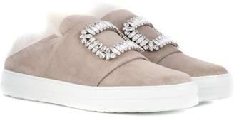 Roger Vivier Sneaky Viv fur-lined suede sneakers