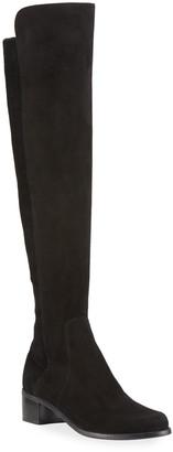 Stuart Weitzman Reserve Stretch-Suede Knee Boots