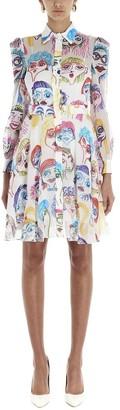Moschino Faces Printed Shirt Dress