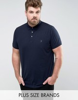 French Connection Plus Slim Fit Jersey Polo Shirt