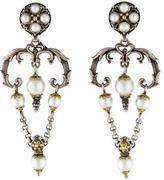 Konstantino Two-Tone Pearl Chandelier Earrings