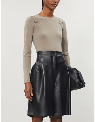 Max Mara Villa buckled knitted top