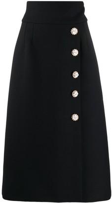 Dolce & Gabbana High-Waisted Buttoned Midi Skirt