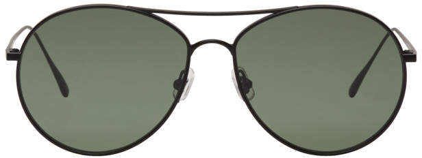 Gentle Monster Black and Green Ranny Ring Aviator Sunglasses