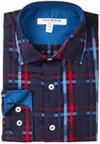 Isaac Mizrahi Long Sleeve Plaid Shirt (Big Boys)
