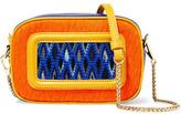 Missoni Paneled Crochet-Knit And Leather Shoulder Bag