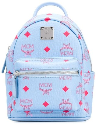MCM Monogram Print Backpack