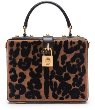 Dolce & Gabbana Dolce Box leopard-print tote bag