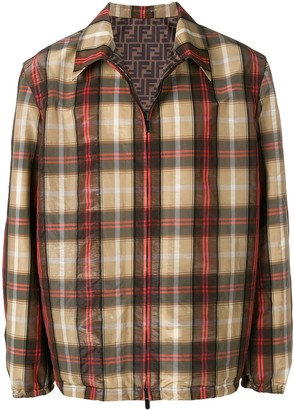 Fendi check shirt jacket
