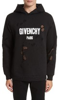 Givenchy Men's Logo Distressed Hoodie
