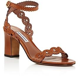Tabitha Simmons Women's Bobbin Perforated Lace Slingback Block-Heel Sandals