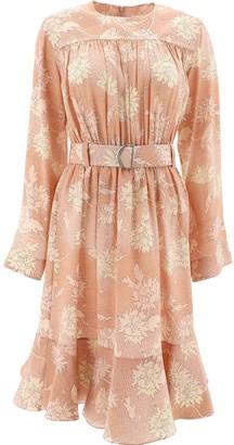 Chloé Belt Floral Gathered Dress