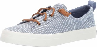 Sperry Women's Crest Vibe Chambray Stripe Fashion Sneakers