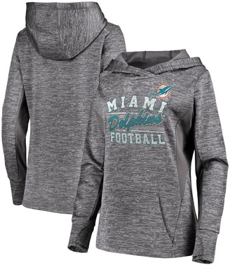 Majestic Women's Gray Miami Dolphins Showtime Quick Out Pullover Hoodie