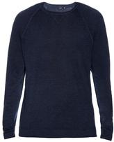 Vince Crew-neck Wool And Silk-blend Sweatshirt