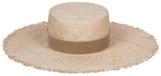 LACK OF COLOR Aruba Fray Raffia Boater Hat