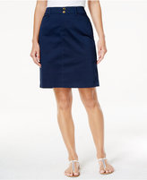 Charter Club Sateen Comfort Waist Skort, Only at Macy's
