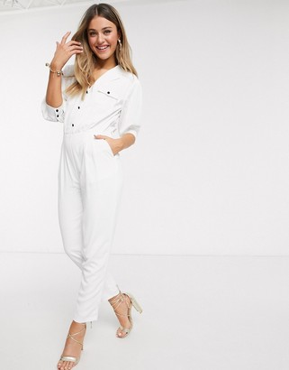 Paper Dolls utility jumpsuit in ivory