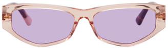 McQ Orange and Tortoiseshell Swallow MQ0250S Sunglasses