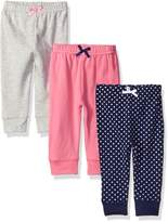Luvable Friends Girls' 3 Pack Tapered Ankle Pant