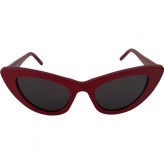Saint Laurent Lily Red Plastic Sunglasses