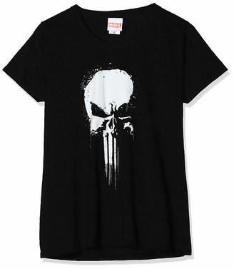 Marvel Women's Knights Paintspray Skull T-Shirt