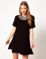 Manoush Knitted Dress With Beaded Neckline