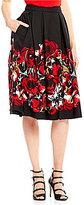 KARL LAGERFELD PARIS Scuba Printed Midi Length Ball Skirt