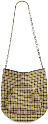 Victoria Beckham Round Wallet Wool Tweed Shoulder Bag