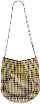 Victoria Beckham ROUND WALLET WOOL TWEED SHOULDER BAG