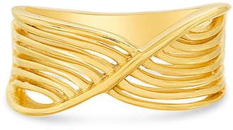 Bliss Women's Rings Yellow - Goldtone Multi-Strand Crossover Band