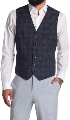 Reiss Bagley Prince Of Wales Plaid Vest