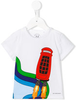 Burberry rocket phone box print T-shirt - kids - Cotton - 6 mth