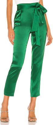 Alice + Olivia Jessie Slim Pant With Tie Belt