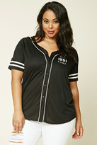 Forever 21 FOREVER 21+ Plus Size NYC Baseball Jersey