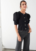 And other stories Organic Cotton Blend Puff Sleeve Blouse