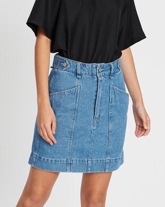Ena Pelly Eden Denim Mini Skirt