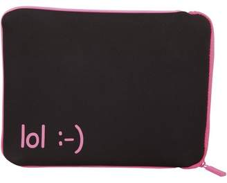 """Factory Urban Carrying Case (Sleeve) for 10"""" Tablet PC - Fuchsia - LOL (laugh out loud) Emotion"""