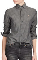 Polo Ralph Lauren Slim-Fit Chambray Cotton Button-Down Shirt