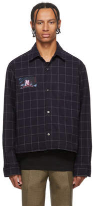 Undercover Navy A Clockwork Orange Check Shirt Jacket