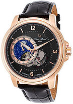 Lucien Piccard 15156-RG-01 Men's Nebula Automatic Black Genuine Leather and