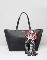Love Moschino Tote Bag With Zebra Scarf