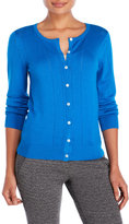 Joseph A Long Sleeve Pointelle Cardigan