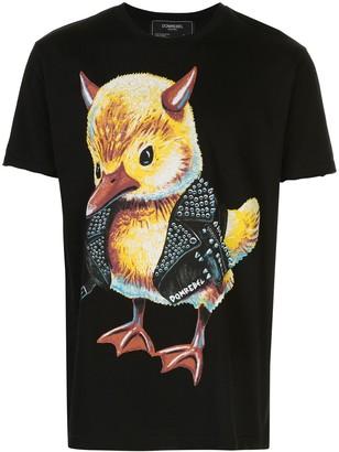 Dom Rebel Evil Duck print round neck T-shirt
